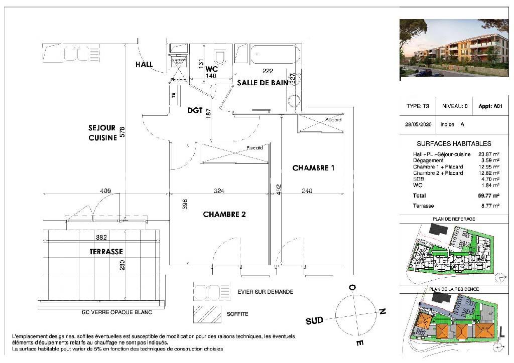Appartement T3 neuf avec terrasse et parking - DRAGUIGNAN