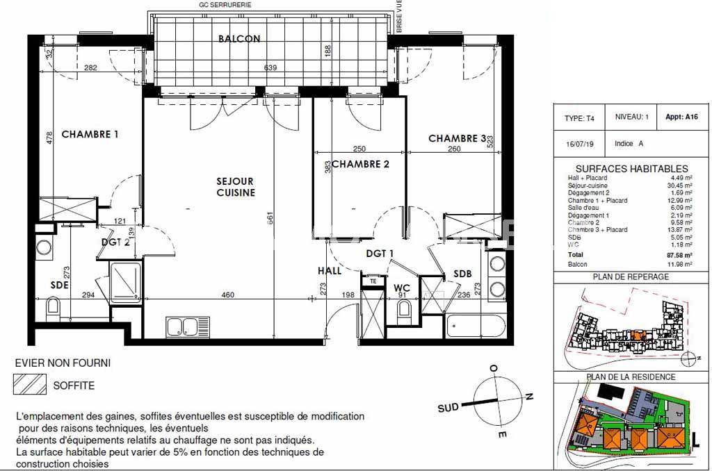 Appartement 4 pièces neuf - DRAGUIGNAN Var