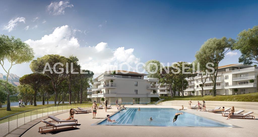 Appartements neufs T2 T3 T4 Le Domaine du Lac - PUGET SUR ARGENS
