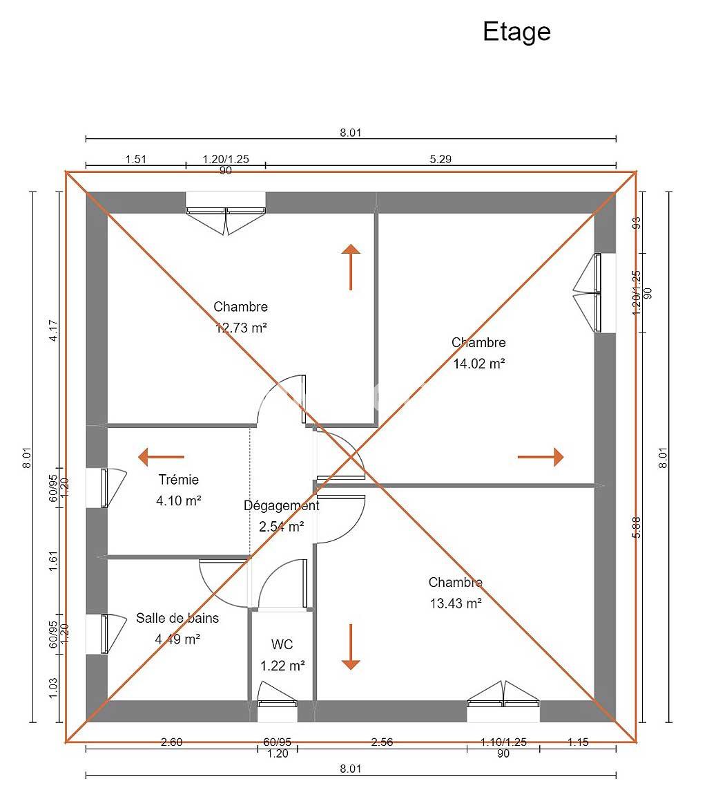 Vente : 6 Pièces - 4 chambres - Garage  - Var 83